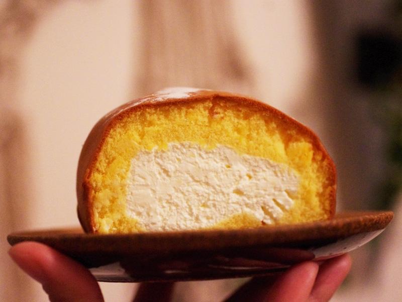 ロールケーキの断面図